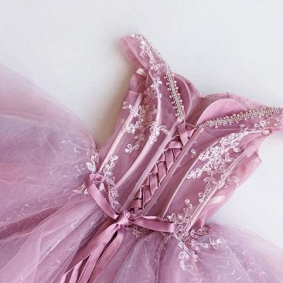 Luxury Off-the-Shoulder Short Homecoming Dress UK   2019 Sequins Short Dress UK With Appliques_3