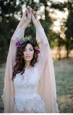 Delicate  Lace Appliques Wedding Dress Long Sleeve_5
