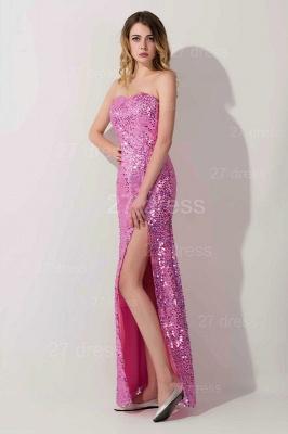 Gorgeous Sequins Front Split Evening Dress UK Sweetheart Sleeveless Floor-length_3