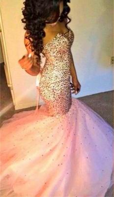 Gorgeous Sweetheart Mermaid Pink Prom Dress UK Sleeveless Lace-up_1