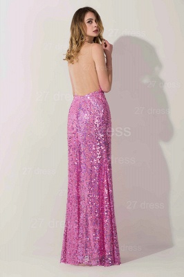 Gorgeous Sequins Front Split Evening Dress UK Sweetheart Sleeveless Floor-length_2