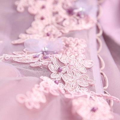 beautiful V-neck Homecoming Dress UK Sleeveless Short With Flowers_6