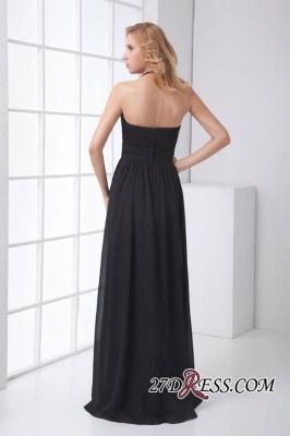 Sleeveless Sash Floor-length Black Lace Modern A-line Bridesmaid Dress UK_5