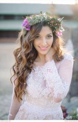 Delicate  Lace Appliques Wedding Dress Long Sleeve_1