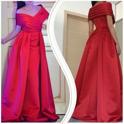 Sexy Off The Shoulder Long Prom Dress UK Floor Length Party Gowns_2