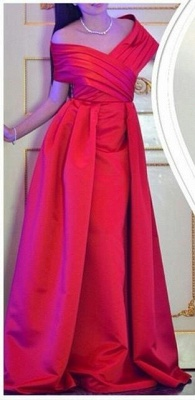 Sexy Off The Shoulder Long Prom Dress UK Floor Length Party Gowns_1
