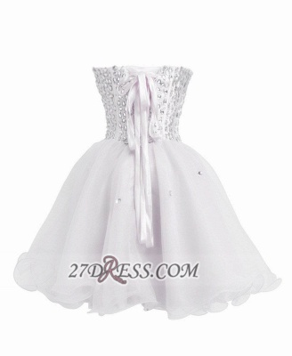 Luxurious Sweetheart Sleeveless Cocktail Dress UK Lace-up Crystals Short White Homecoming Gown BA8930_3
