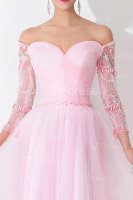 Modern Off-the-shoulder A-line Evening Dress UK Crystals Zipper Floor-length_5