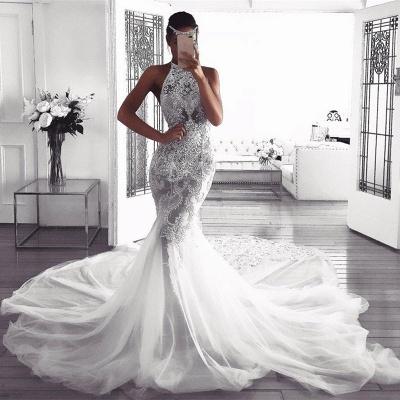 Pretty Halter Sexy Mermaid Wedding Dress | 2019 Lace Bridal Wears_3