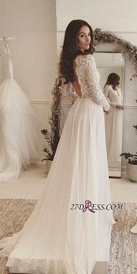 Long-Sleeves   V-neck Lace Wedding Dress BA4172_3