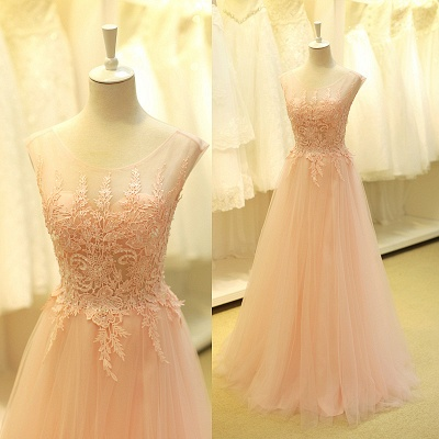 Lovely Color Cap Sleeve Tulle Prom Dress UK With Lace Appliques_2