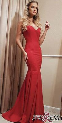 Floor Length Red Sweetheart Mermaid Long Prom Dress UK CC0020_3