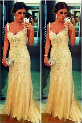 High Quality  Turkish Prom Dress UK Spagetti Strap Lace Sheath Evening Dress UKes UK From Dubai_2