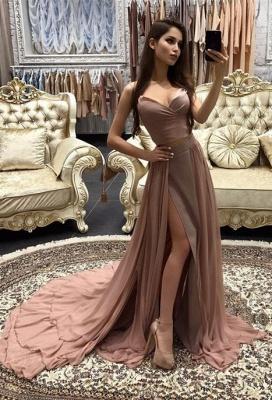 Sexy Sweetheart Sleeveless Mermaid Prom Dress UK Chiffon With Slit BA9180_1