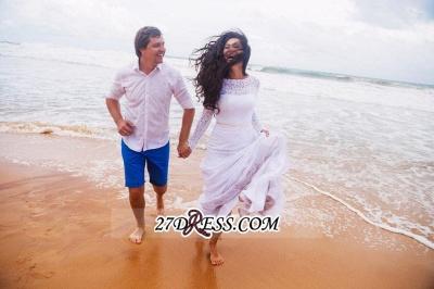 Long Fill-Lace Sleeve Sexy Mermaid Elegant Open-Back Wedding Dress_2
