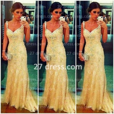 High Quality  Turkish Prom Dress UK Spagetti Strap Lace Sheath Evening Dress UKes UK From Dubai_1
