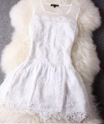 Newest Illusion Sleeveless Short Homecoming Dress UK With Lace_3
