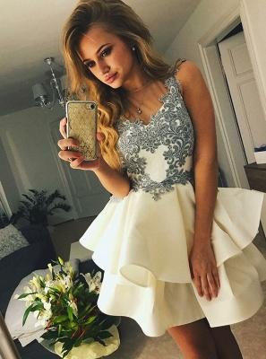 Lovely Sleeveless Short Prom Dress UK | Homecoming Dress UK With Appliques_1