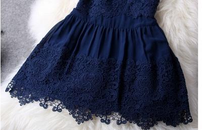 Newest Illusion Sleeveless Short Homecoming Dress UK With Lace_4