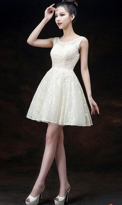 Modern Illusion Sleeveless Short Homecoming Dress UK Lace-up With Appliques_7