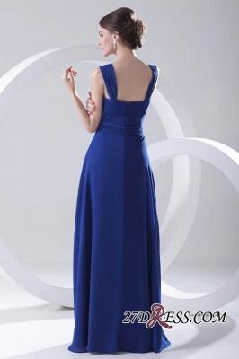 Royal-Blue Straps A-line Sleeveless Newest Ruffles Bridesmaid Dress UK_5