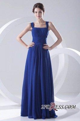 Royal-Blue Straps A-line Sleeveless Newest Ruffles Bridesmaid Dress UK_6