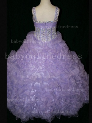 Girls Beauty Pageant Dresses for Girls Affordable Wholesale Beaded Crystal Gowns Flower_3