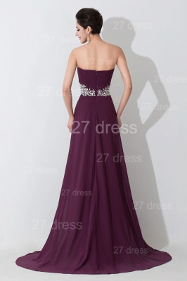 Modern Sweetheart Sleeveless Chiffon Evening Dress UK Crystals Sweep Train_4