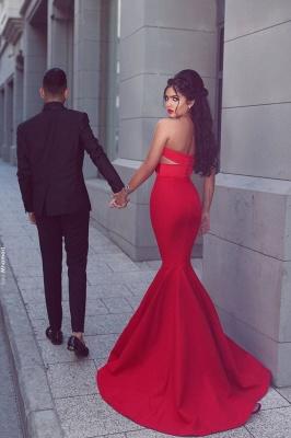 Elegant Red Mermaid Evening Dress UK Sweetheart Long MH204_4