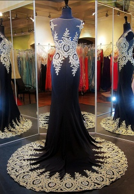 Gorgeous Illusion Cap Sleeve Prom Dress UK With Beadings Appliques_2
