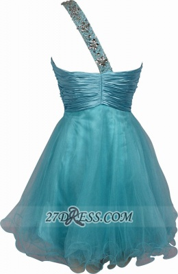 Elegant One-shoulder Sleeveless Short Homecoming Dress UK With Beadings And Crystals_2