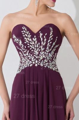 Modern Sweetheart Sleeveless Chiffon Evening Dress UK Crystals Sweep Train_2