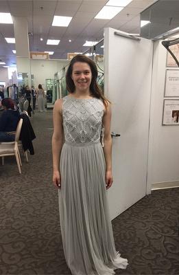 Sexy Beadings Tulle Jewel Prom Dress UK A-line Sleeveless_2