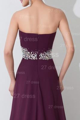 Modern Sweetheart Sleeveless Chiffon Evening Dress UK Crystals Sweep Train_5