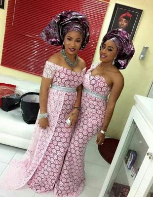 Designer Arabian Style Lace Evening Dress UK Pink Floor Length_1