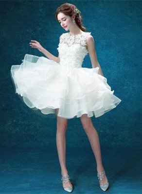 Pretty Sleeveless Appliques Homecoming Dress UK Short With Zipper Button Back_1