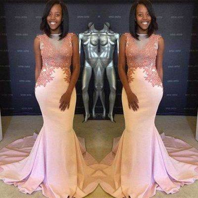 Pink evening party Dress UK, lace mermaid prom Dress UK_3