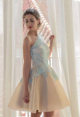 Charming One Shoulder Blue Lace Homecoming Dress UK New Arrivals Short Prom Dress UK_1