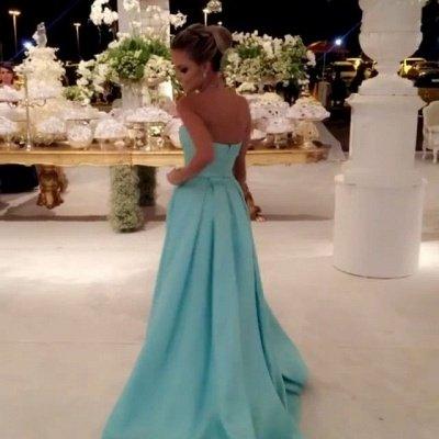 Sexy Strapless Long Evening Dress UK Floor Length Prom Dress UK_3