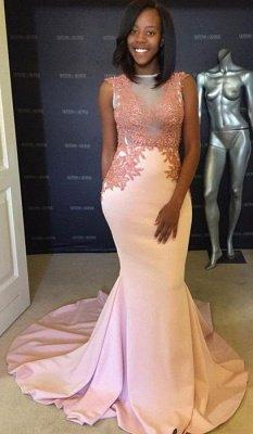 Pink evening party Dress UK, lace mermaid prom Dress UK_1