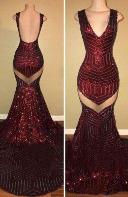 V-Neck Sequins Prom Dress UK   Mermaid Evening Gowns On Sale BA8438_1