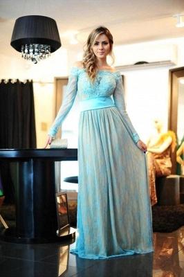 Delicate Lace Appliques Bowknot Evening Dress UK A-line Long Sleeve Zipper_1
