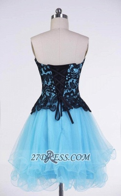 Elegant Sweetheart Sleeveless Cocktail Dress UK With Lace Appliques Lace-up_2