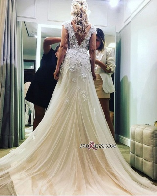 Lace tulle wedding dress, princess bridal gowns_4