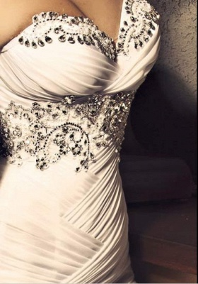 New  Sweetheart Wedding Dresses UK Organza Sexy Mermaid Bling Evening Gowns_2