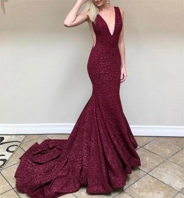 Burgundy sequins prom Dress UK, long mermaid formal gowns BA8313_3