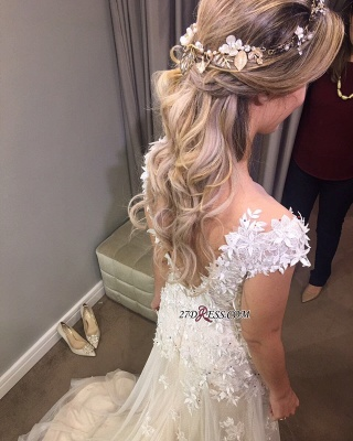 Lace tulle wedding dress, princess bridal gowns_3