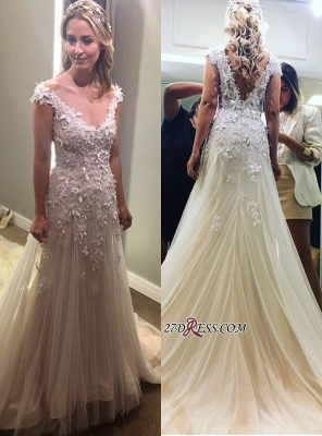 Lace tulle wedding dress, princess bridal gowns_6