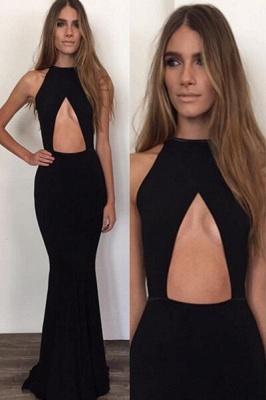 Elegant Black Sleeveless Prom Dress UKes UK Long Mermaid Prom Gown_1