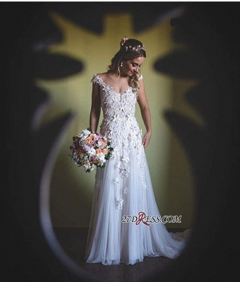 Lace tulle wedding dress, princess bridal gowns_2